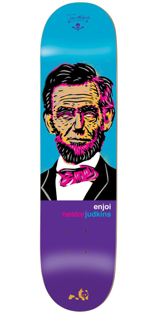 Enjoi Nestor Judkins Presidents R7 - Blue/Purple - 8.0in - Skateboard Deck