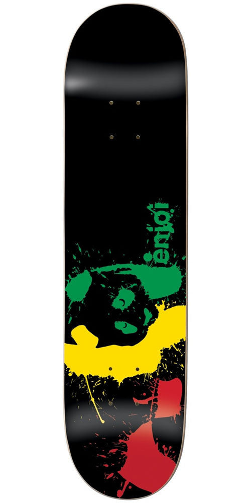 Enjoi Panda Splatter Wide R7 - Rasta - 8.0in - Skateboard Deck