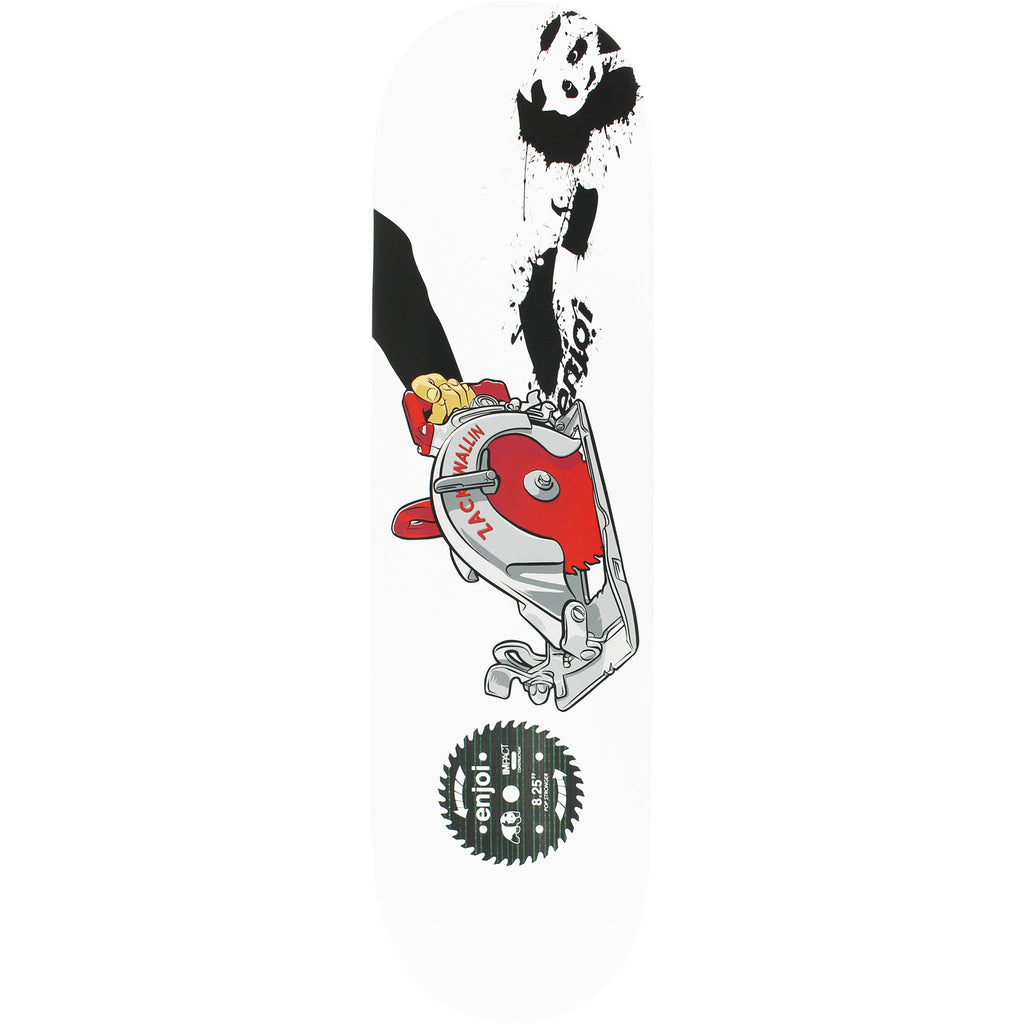 Enjoi Zack Wallin Skill Saw IP - White - 8.25in - Skateboard Deck
