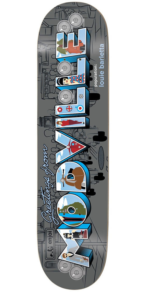 Enjoi Louie Barletta Welcome To R7 - Grey - 8.25in - Skateboard Deck
