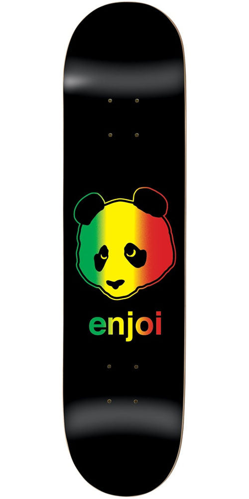 Enjoi Rastafari Panda R7 - Rasta - 8.125in - Skateboard Deck