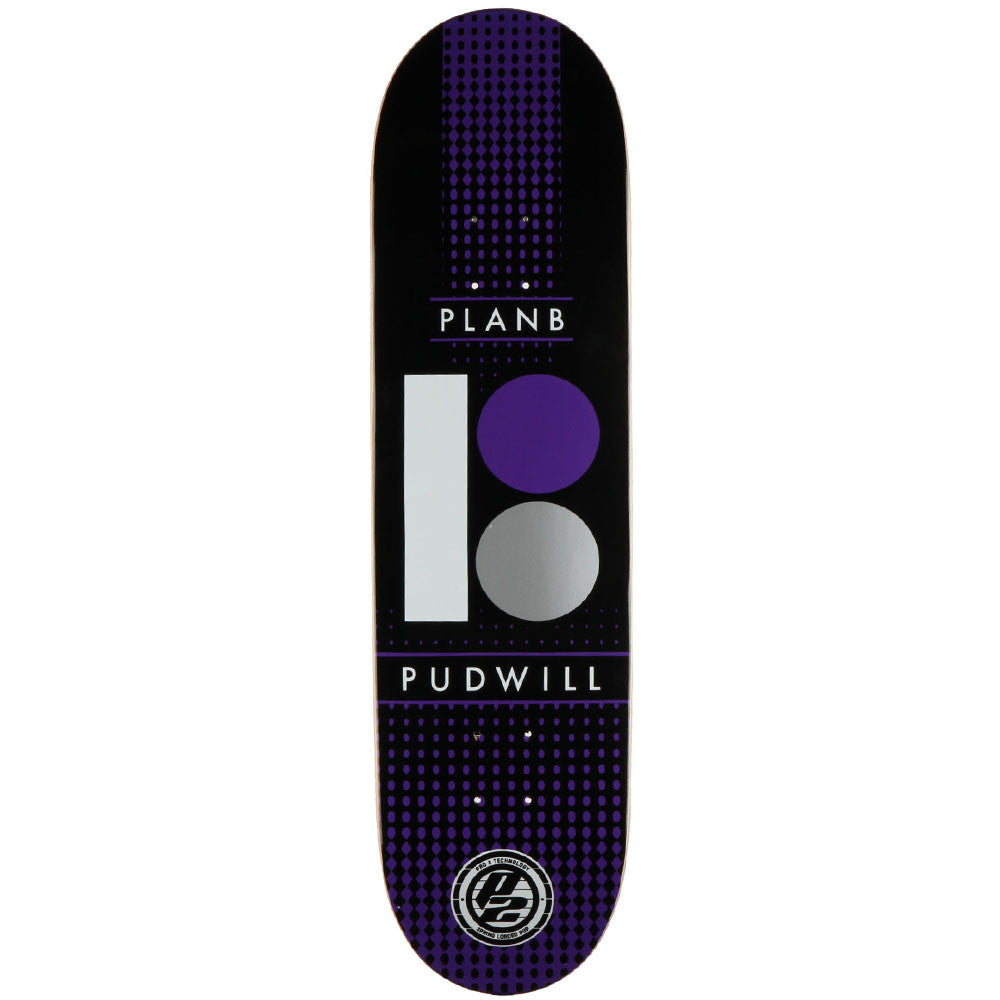 Plan B Pudwill P2 Halftone - Purple/Black - 8.25 - Skateboard Deck
