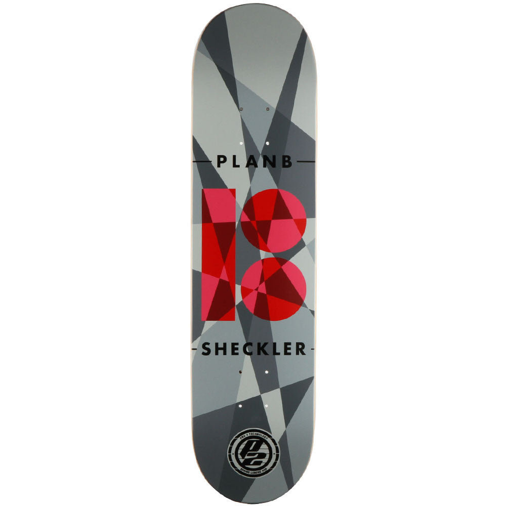 Plan B Sheckler P2 Jagged - Grey - 7.75 - Skateboard Deck