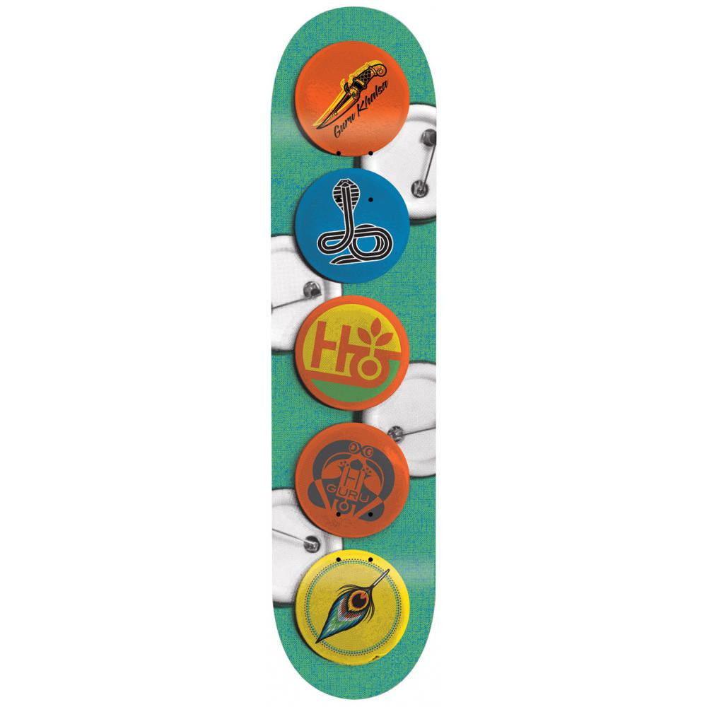 Habitat Buttons Guru - Green - 8.0 - Skateboard Deck