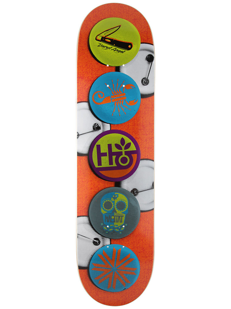 Habitat Buttons Angel - Orange - 8.125 - Skateboard Deck