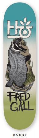 Blemished Habitat Terrene Fred Gall - Blue/Green/Grey - 8.5 - Skateboard Deck