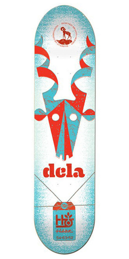 Habitat Brian Delatorre Horned Beast - White/Blue - 8.5in - Skateboard Deck