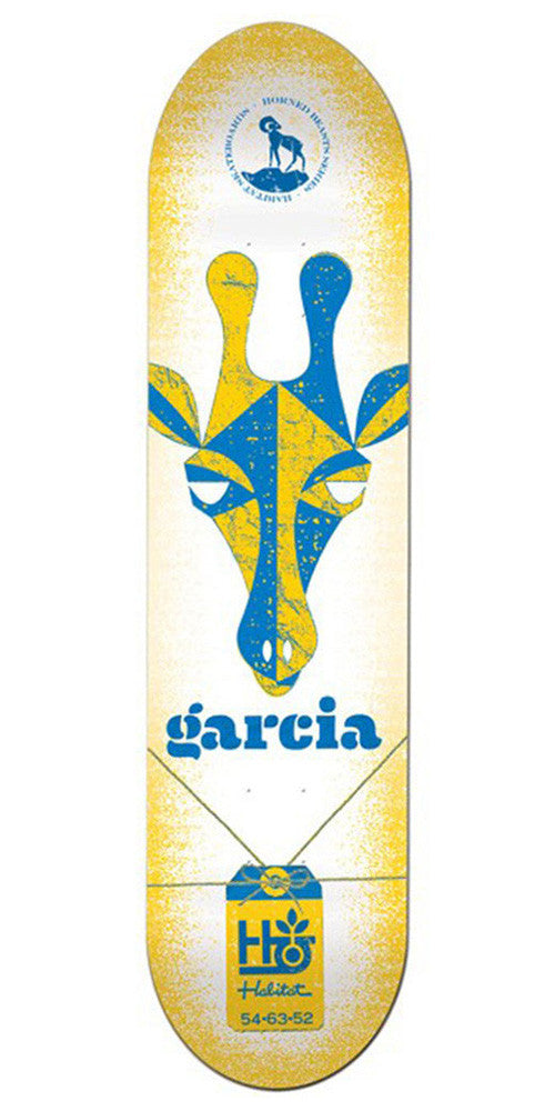 Habitat Danny Garcia Horned Beast - White/Yellow - 8.25in - Skateboard Deck