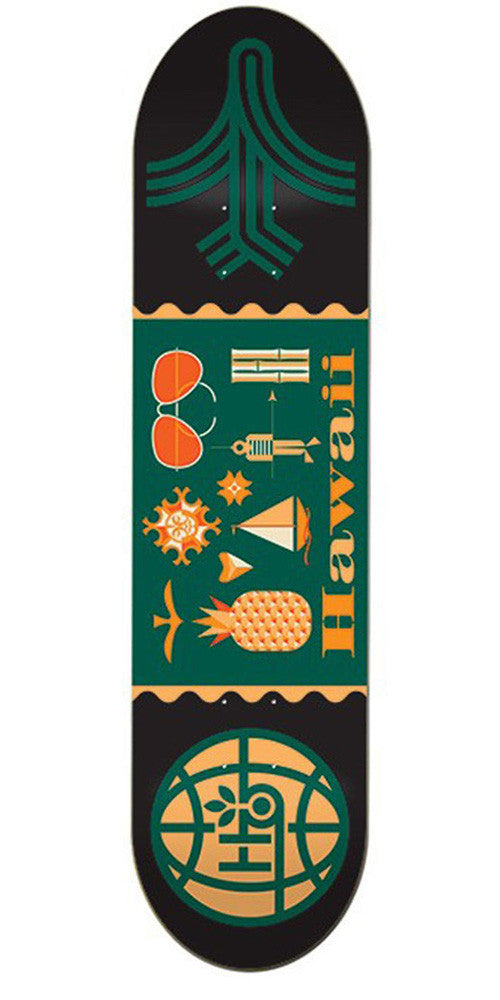 Habitat Travel Hawaii - Black - 8.0in - Skateboard Deck