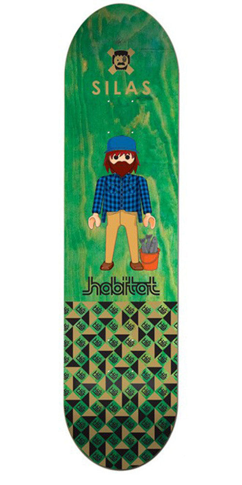 Habitat Silas Baxter-Neal Miniatures - Green - 8.25in - Skateboard Deck