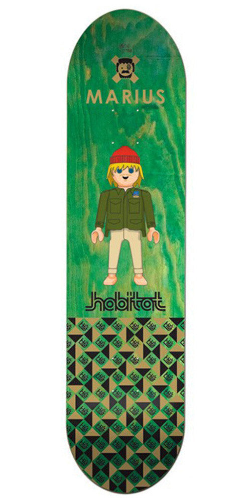 Habitat Marius Syvanen Miniatures - Green - 8.125in - Skateboard Deck