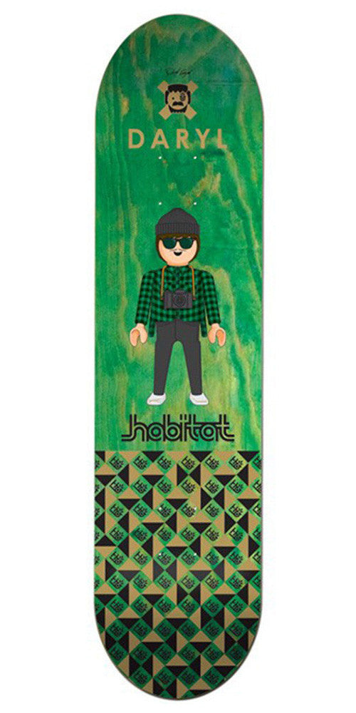 Habitat Daryl Angel Miniatures - Green - 8.25in - Skateboard Deck