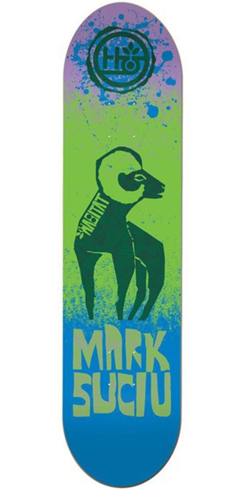 Habitat Suciu Tooth & Claw - Blue/Green - 7.75in - Skateboard Deck