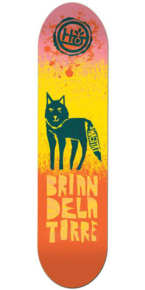 Habitat Delatorre Tooth & Claw - Yellow/Orange - 8.25in - Skateboard Deck