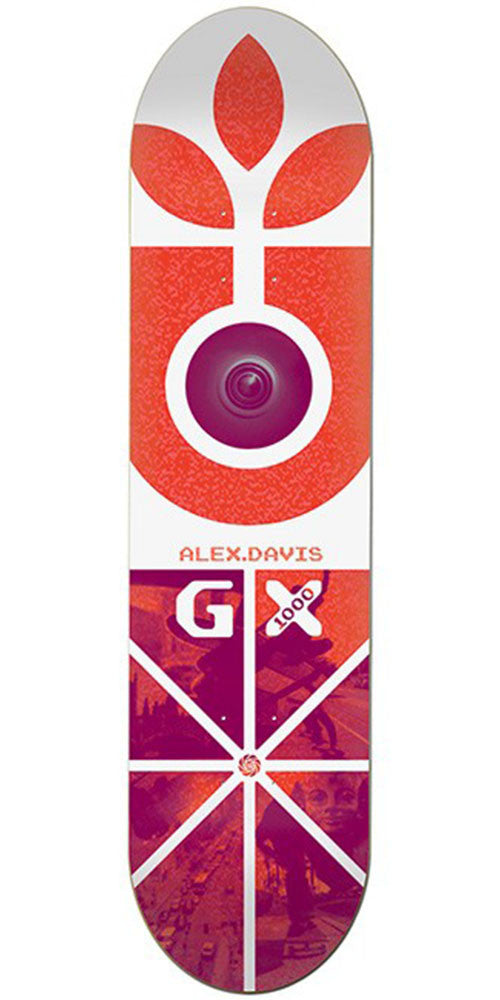 Habitat Davis GX - White/Purple - 8.25in - Skateboard Deck