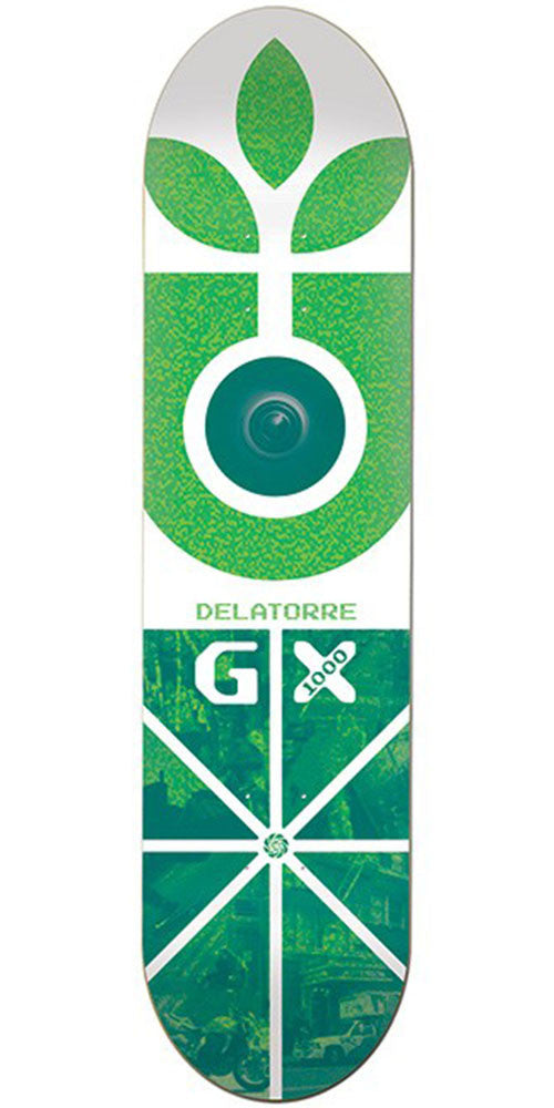 Habitat Delatorre GX - White/Green - 8.125in - Skateboard Deck
