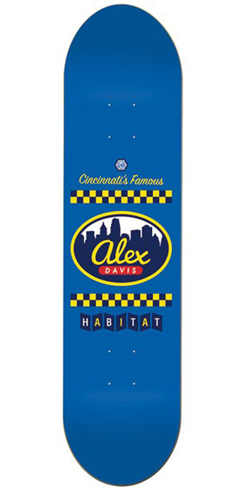 Habitat Davis 3 Way - Blue - 8.125in - Skateboard Deck