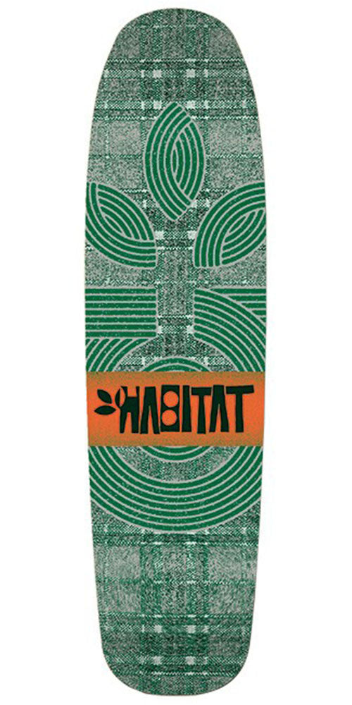Habitat Plaid Cruiser - Green - 8.25in - Skateboard Deck