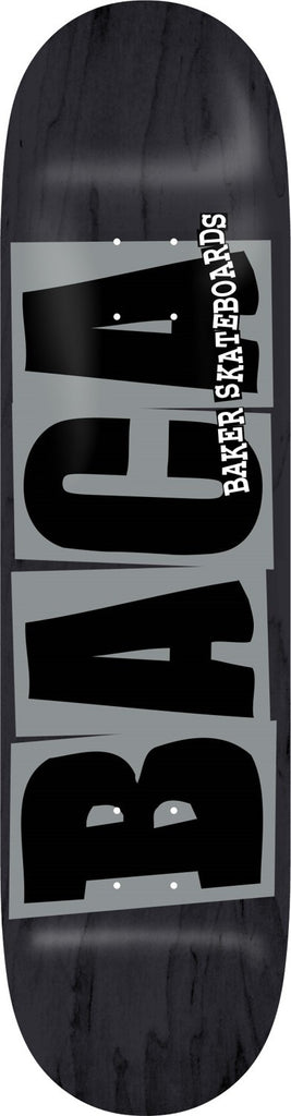 Baker Baca Logo - Black/Grey - 8.38 - Skateboard Deck