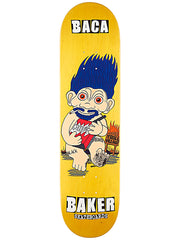 Baker Baca Troggs - Yellow - 8in - Skateboard Deck
