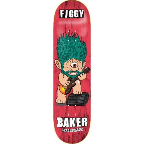 Baker Figgy Troggs - Red/Teal - 8.25 - Skateboard Deck