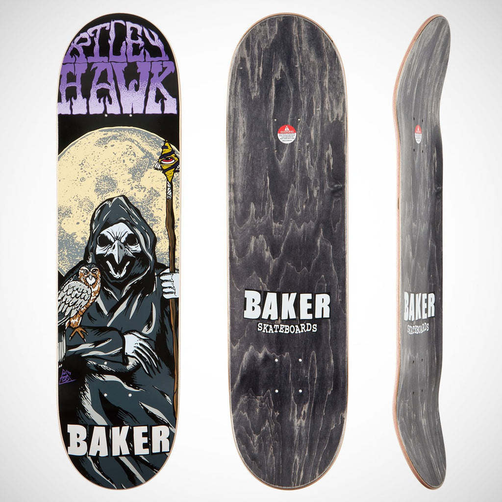 Baker Hawk Reaper - Black/Grey - 8.25 - Skateboard Deck
