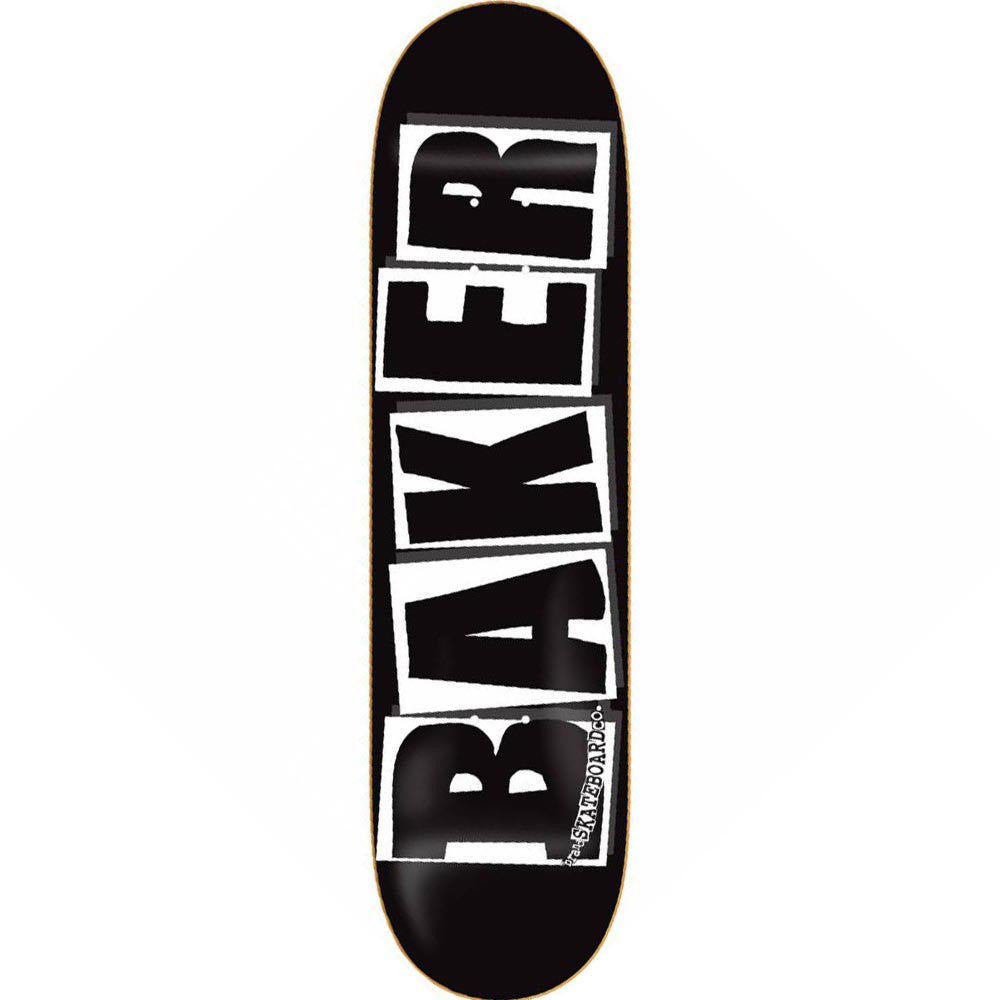 Baker Brand Logo - 8.0in x 31.5in - Black/White - Skateboard Deck