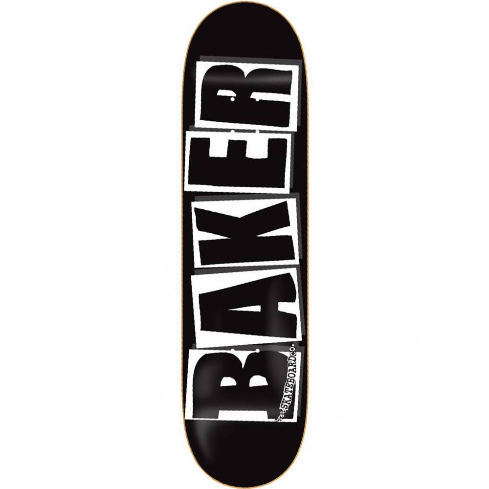 Baker Brand Logo - 8.25in x 31.875in - Black/White - Skateboard Deck