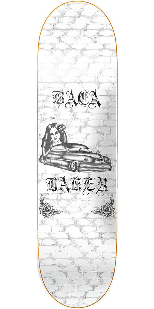 Baker Sammy Baca Lowrider - White - 8.25in - Skateboard Deck