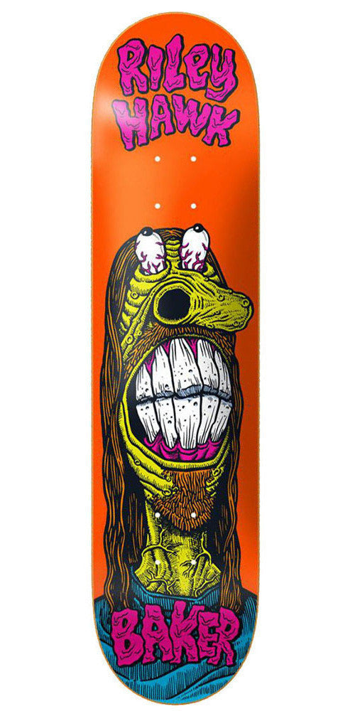 Baker Riley Hawk Weirdos - Orange - 7.75in - Skateboard Deck