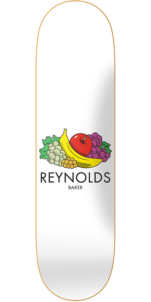 Baker AR Essentials - White - 8.0in - Skateboard Deck