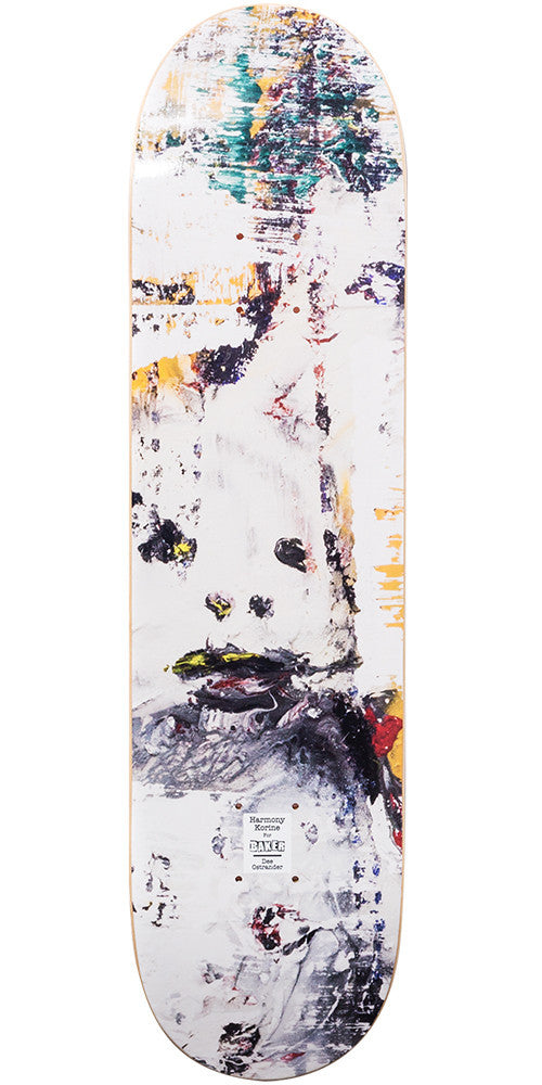 Baker DO Harmony Korine - White - 8.0in - Skateboard Deck