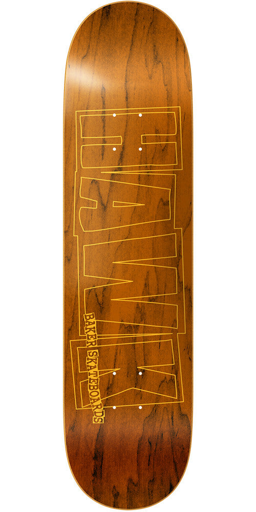 Baker RH Hawk Logo - Yellow - 8.25in - Skateboard Deck