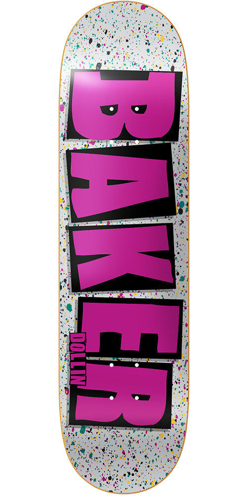Baker DD Brand Name Splat - Grey - 8.0in - Skateboard Deck
