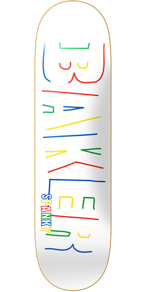 Baker KL Brand Name Childs Play - White - 8.12in - Skateboard Deck