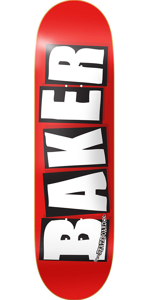 Baker Brand Logo Mini - White - 7.3in - Skateboard Deck