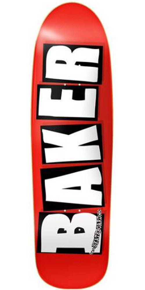 Baker Brand Logo Cruiser - White - 8.5in - Skateboard Deck