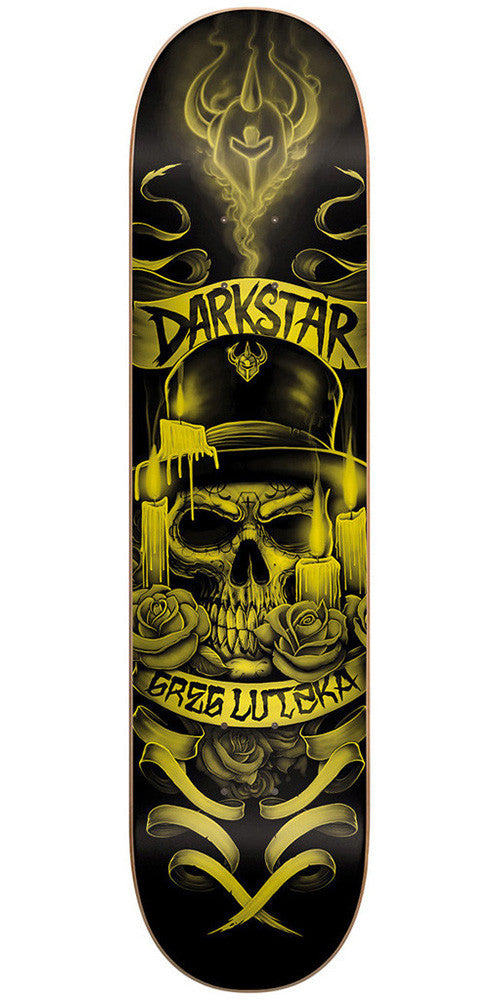 Darkstar Greg Lutzka Shrine SL - Gold/Black - 8.0 - Skateboard Deck
