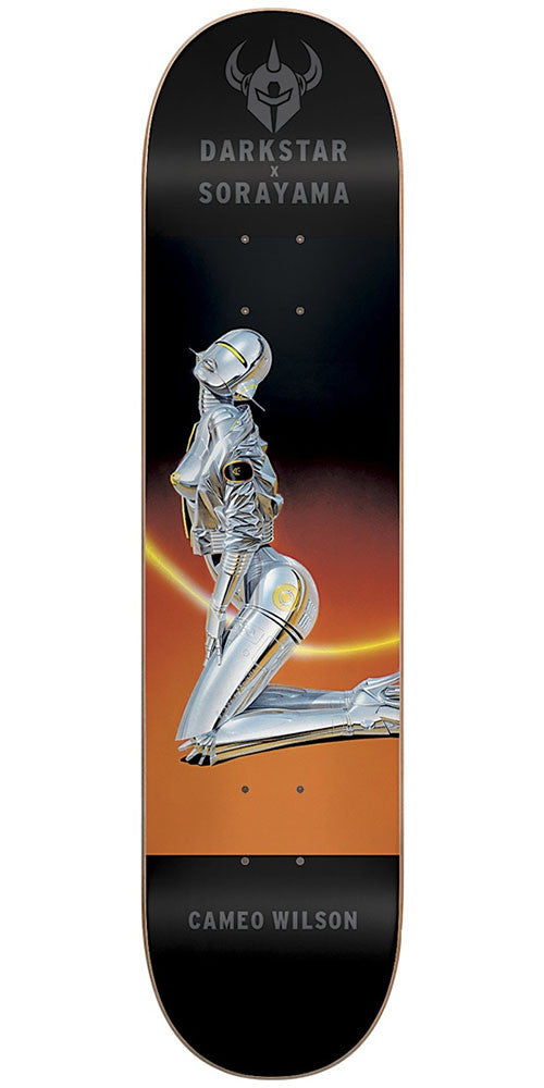 DarkStar Cameo Wilson Sorayama R7 - Black/Orange - 8.0in - Skateboard Deck