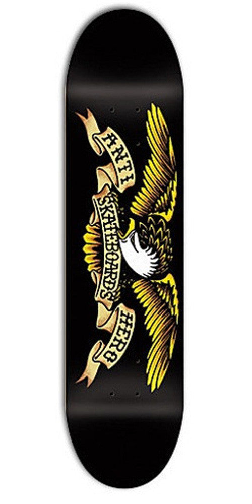 Anti-Hero Classic Eagle Large - Black/Yellow - 8.12 - Skateboard Deck