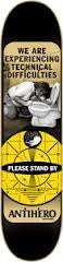 Anti-Hero Difficulties MD - Black - 8.12 - Skateboard Deck