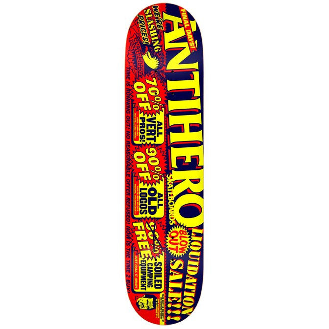 Anti-Hero Liquidation PP X-Large - Red/Black/Yellow - 8.5 - Skateboard Deck