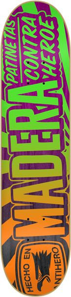 Anti-Hero No Entiendo Madera - Orange/Green - 8.25 - Skateboard Deck