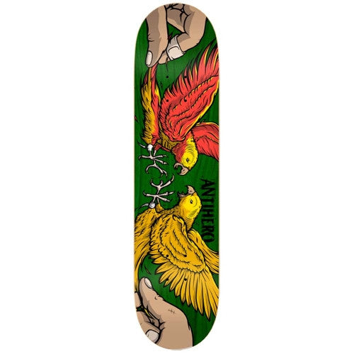 Anti-Hero Parakeets Small - Green - 8.06 - Skateboard Deck