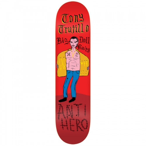 Anti-Hero Trujillo Escape From Alcatraz - Red - 8.12 - Skateboard Deck