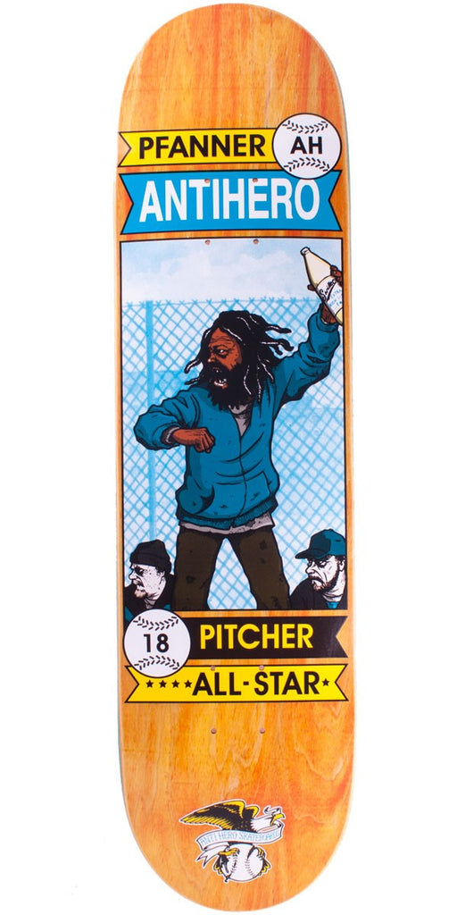 Anti-Hero Pfanner All Star Vagrant - 8.18 - Skateboard Deck