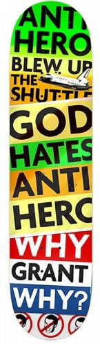 Anti-Hero Taylor God Hates - Multi - 8.25 x 32 - Skateboard Deck