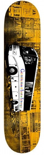 Anti-Hero Stranger Tech Bus - Orange/White - 8.5 x 32.18 - Skateboard Deck