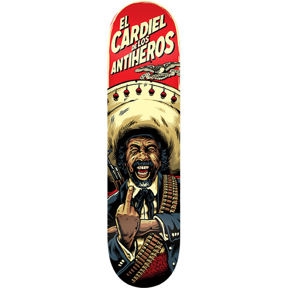 Anti-Hero Cardiel De Los Antiheros - Multi - 8.4 x 32.0 - Skateboard Deck