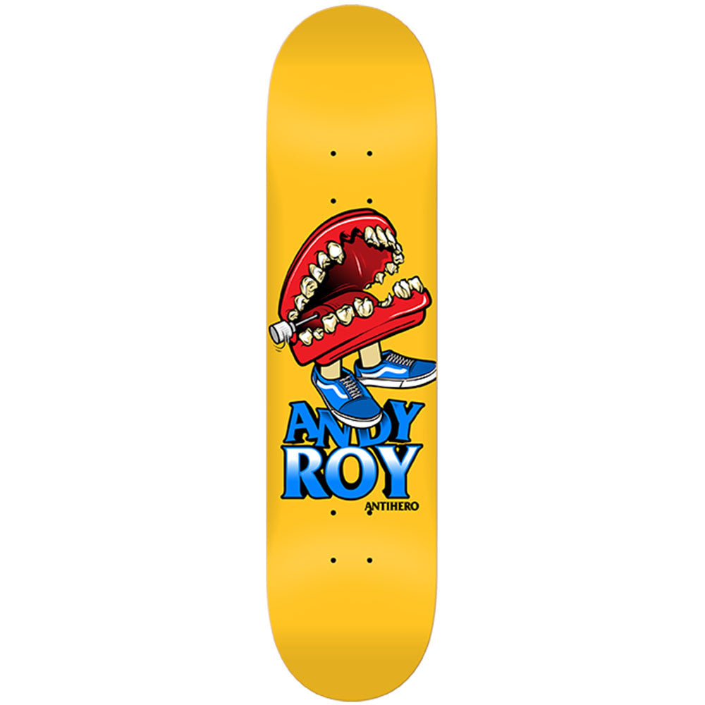 Anti-Hero Andy Roy Box - Yellow - 8.28 x 32.0 - Skateboard Deck